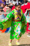 Young girl Native american Dancer. Beautiful girl in native costume and dress, dancing at Powwow in Houston, TX Stock Photography