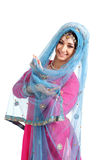 Young girl in the Indian national costume Royalty Free Stock Photography