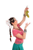 Young girl in the Indian national dress Royalty Free Stock Images