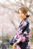Young girl in japan kimino dress Stock Photography