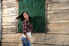 Young girl with jean Royalty Free Stock Photos