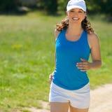 Young girl jog Stock Image