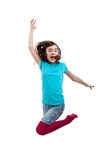 Young girl jumping Royalty Free Stock Images