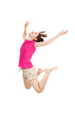 Young girl jumping stock photography
