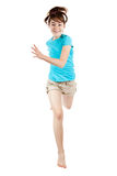 Young girl jumping Stock Images
