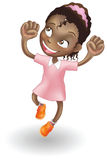 Young girl jumping for joy. An illustration of a young black girl jumping for joy vector illustration