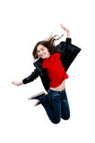 Young girl jumping Royalty Free Stock Photo