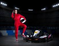 Young girl karting racer Stock Image