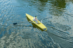 A young girl in a kayak. Royalty Free Stock Photo