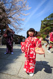 Young girl in kimono dress Stock Photography