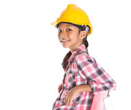 Young Girl On A Ladder II Stock Image