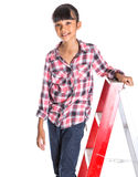 Young Girl On A Ladder IV Stock Images