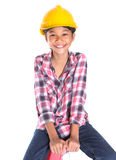 Young Girl On A Ladder VII Royalty Free Stock Image