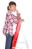 Young Girl On A Ladder VII Stock Photo