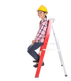 Young Girl On A Ladder VIII Stock Photos