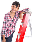 Young Girl On A Ladder VIII Royalty Free Stock Image