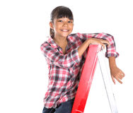 Young Girl On A Ladder XI Stock Photos