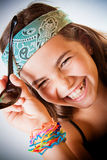 Young girl laughing Stock Photos