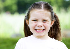 Young girl laughing Stock Image
