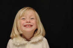 Young girl laughing Royalty Free Stock Photography