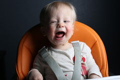 Young girl laughing royalty free stock image