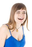 Young girl laughs Royalty Free Stock Photos
