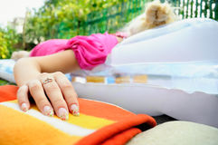Young girl relaxing Royalty Free Stock Images