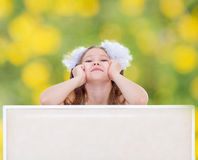 Young girl leans Stock Photography