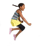 Young Girl Leaping Royalty Free Stock Photography