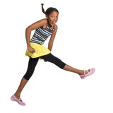 Young Girl Leaping Royalty Free Stock Photo