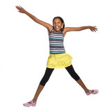 Young Girl Leaping Stock Photo