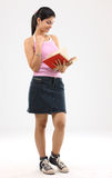 Young girl learning books Stock Image