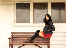Young Girl In Leather Royalty Free Stock Image