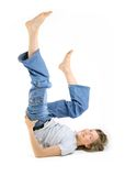 Young Girl - Legs Up! royalty free stock photos