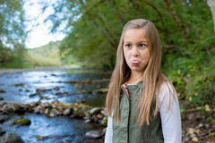 Young Girl Lifestyle Portrait in Oregon Stock Images