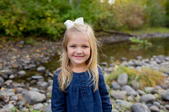 Young Girl Lifestyle Portrait in Oregon Stock Photo