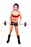 Young Girl Lifting Weight. Stock Image