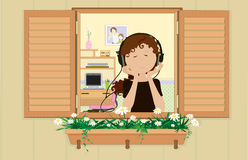 Free Young Girl Listening A Music. Royalty Free Stock Photos - 10483328