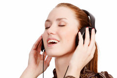 Young girl listening music Royalty Free Stock Photo