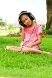 Young Girl Listening To Music Stock Photos