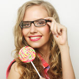 Young girl with lolipop Royalty Free Stock Photo