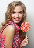 Young girl with lolipop Stock Photo