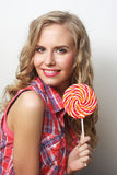 Young girl with lolipop Royalty Free Stock Image