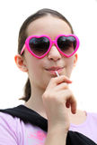 Young girl with lollipop Royalty Free Stock Photo