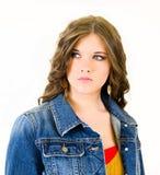 Young girl Long auburn hair royalty free stock photography