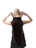 Young girl with long hair isolated Royalty Free Stock Photos