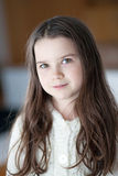 Young Girl with long hair Stock Images