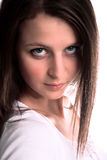 Young girl look serious Royalty Free Stock Photography