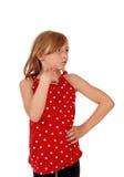 Young girl looking away. Royalty Free Stock Photos