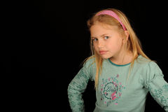 Young girl looking cross Stock Photography